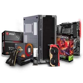 Komplett PC i deler Ryzen Value Gamer 1600X - 3,4GHz HC 8GB 256GB