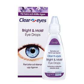 Clear Eyes Bright & Moist Eye Drops 15ml