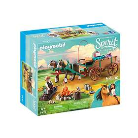 Playmobil Spirit Riding Free 9477 Lucky's Dad and Wagon