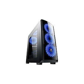 CoolBox Deep Storm Blue Edition (Svart/Transparent)