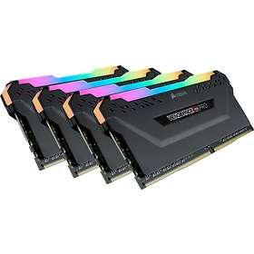 Corsair Vengeance Black RGB LED Pro DDR4 3200MHz 4x8GB (CMW32GX4M4C3200C14)