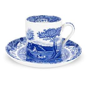 Spode Blue Italian Kaffekopp med fat 9cl