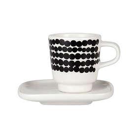 Marimekko Siirtolapuutarha Espressokopp med asjett 5cl