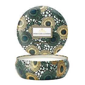 Voluspa 3 Wick Candle In Decorative Tin French Cade Lavender
