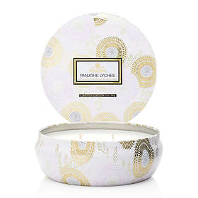 Voluspa 3 Wick Candle In Decorative Tin Panjore Lychee
