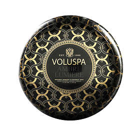 Voluspa Maison Metallo 2 Wick Candle Ambre Lumiere