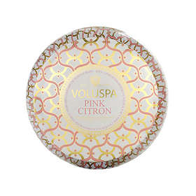 Voluspa Maison Metallo 2 Wick Candle Pink Citron