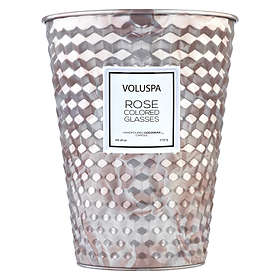 Voluspa 2 Wick Tin Table Candle Rose Colored Glasses