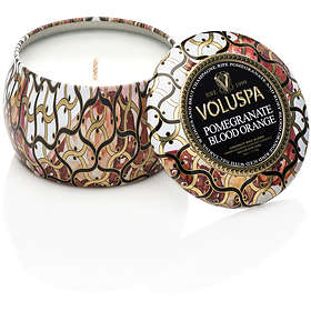 Voluspa Petite Decorative Tin Candle Pomegranate Blood Orange