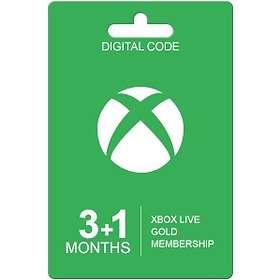 Microsoft Xbox Live Gold 4 Months Card