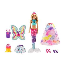 Barbie Dreamtopia Doll with 3 Fairytale Costumes FJD08