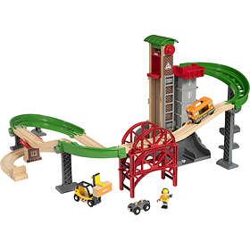 BRIO Tågset för frakt med hiss och broar 33887