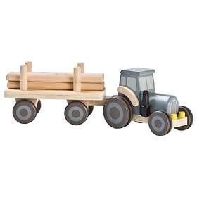 Stoy Wood Traktor med Släp