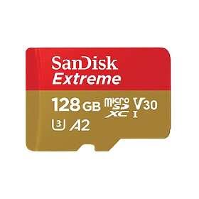 SanDisk Extreme microSDXC Class 10 UHS-I U3 V30 A2 160/90MB/s 128GB
