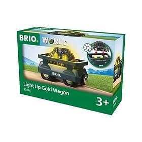 BRIO World Fraktvagn med guld och ljus 33896