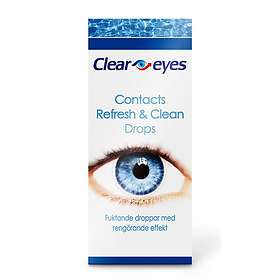 Clear Eyes Contacts Refresh & Clean Eye Drops 10ml