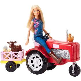 Barbie Farmer Doll and Tractor Set FRM18