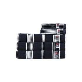 Lexington Striped Velour Handduk (100x150cm)