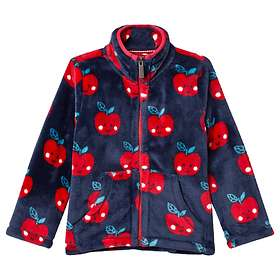 Hatley Red Smiling Apples Fuzzy Fleece Jacket (Jr)