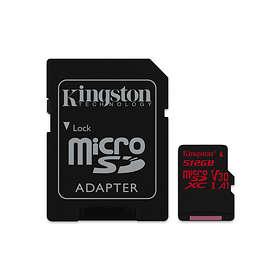 Kingston Canvas React microSDXC Class 10 UHS-I U3 V30 A1 100/80MB/s 512GB