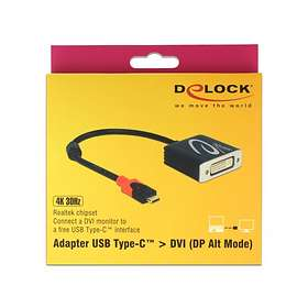 DeLock USB C - DVI M-F Adapter