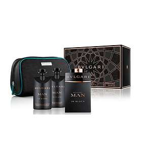 BVLGARI Man In Black edp 100ml + AS Balm 75ml + SG 75ml + Necessär For Men