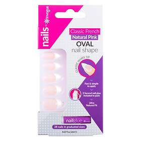 Invogue Classic French Oval False Nails 24-pack