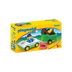 Playmobil 1.2.3 70181 Car with horse trailer