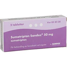 Sandoz Sumatriptan 50 mg 2 Tabletter