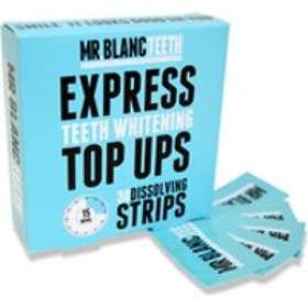 Mr. Blanc Teeth Express Teeth Whitening Top UPS Dissolving Strips 30st