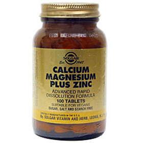 Solgar Calcium Magnesium Plus Zinc 100 Tabletit