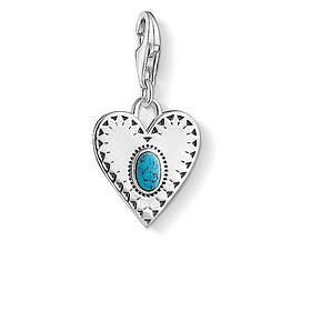 Thomas Sabo Heart Turquoise Stone Charm Pendant Anheng (Dame)