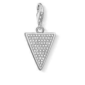 Thomas Sabo Triangle White Charm Pendant Anheng (Dame)