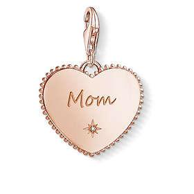 Thomas Sabo Heart Mom Rose Gold Charm Pendant Berlock (Dam)