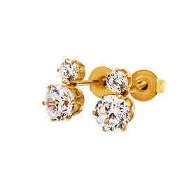 Edblad Crown Studs Double Gold Øreringer (Dame)