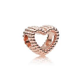 Pandora Beaded Heart Charm Berlock (Dam)
