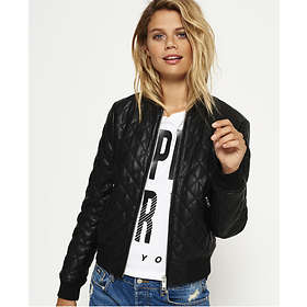 06ebbc91bf6 Superdry Parisian Quilted Faux Leather Bomber Jacket (Women's) Best Price |  Compare deals at PriceSpy UK
