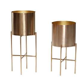 Hübsch Metal Planter 2-pack
