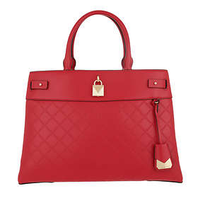 Michael Kors Gramercy Large Chain-Embossed Leather Satchel Bag
