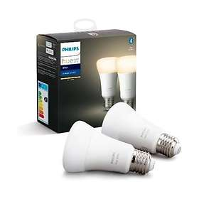 Philips Hue White BT 806lm 2700K E27 9W 2-pack (Dimbar)
