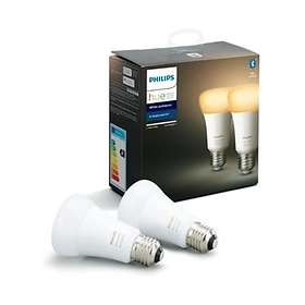 Philips Hue White Ambiance BT 806lm 6500K E27 9W 2-pack (Kan dimmes)