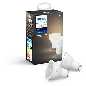 Philips Hue White BT 400lm 2700K GU10 5,2W 2-pack (Dimbar)