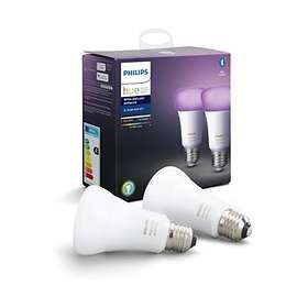 Philips Hue White and Color Ambiance BT 806lm 6500K E27 9W 2-pack (Dimbar)