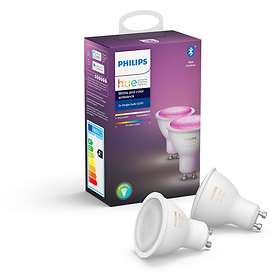 Philips Hue White and Color Ambiance BT 350lm 6500K GU10 5,7W 2-pack (Dimbar)