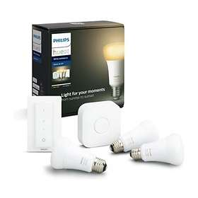 Philips Hue White Ambiance BT Starter Kit 806lm 6500K E27 9W 3-pack (Dimbar)