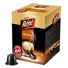 Café René Nespresso Lungo Milano 60st (Kapslar)