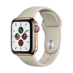 Apple Watch Series 5 4G 40mm Stainless Steel with Sport Band