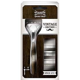 Wilkinson Sword Quattro Titanium Vintage Edition (+4 Lames Supplémentaires)
