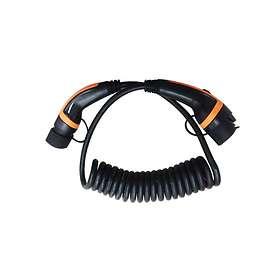 EV Solution Spiral Typ 1 - Typ 2 16A 1-fas 3,6kW 5m