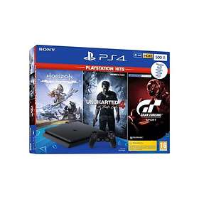Sony PlayStation 4 (PS4) Slim 1TB (incl. Horizon Zero Dawn + Uncharted 4 + GT Sp